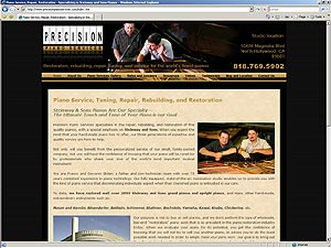 Precision Piano Services web site design