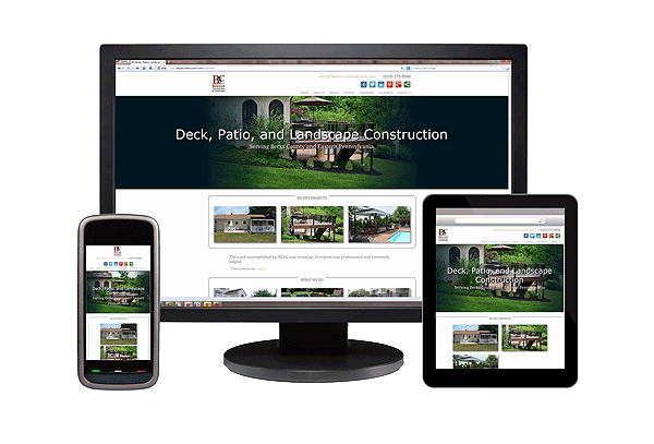 Web design rendering on multiple device screens